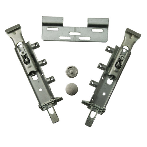 Colgador de mueble atornillar de acero de 15x5x1 cm