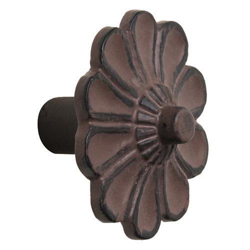 Pomo de mueble de hierro patinado de 47x32x47 mm