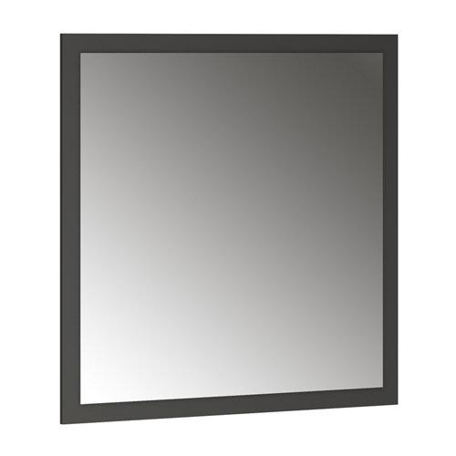 Espejo de baño asimétrico gris / plata 80 x 70 cm