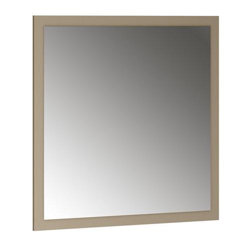 Espejo de baño asimétrico marrón 80 x 70 cm