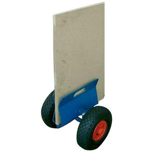 Carro plataforma con ruedas macizas de x cm y 200 kg máx