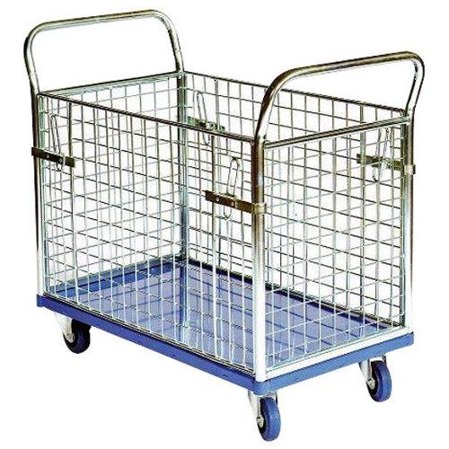 Carro plataforma con ruedas macizas de x cm y 300 kg máx