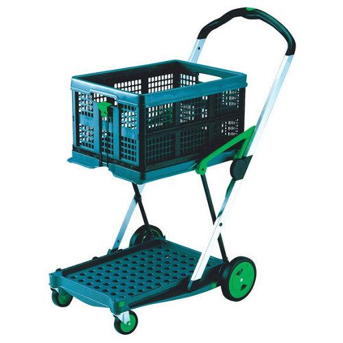 Carro plataforma con ruedas macizas de x cm y 45 kg máx