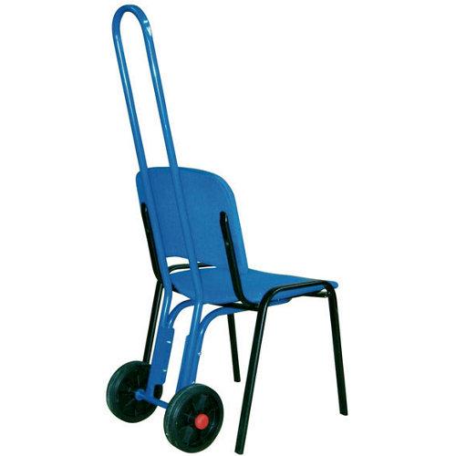 Carretilla rígida con ruedas macizas y 75 kg de carga máxima