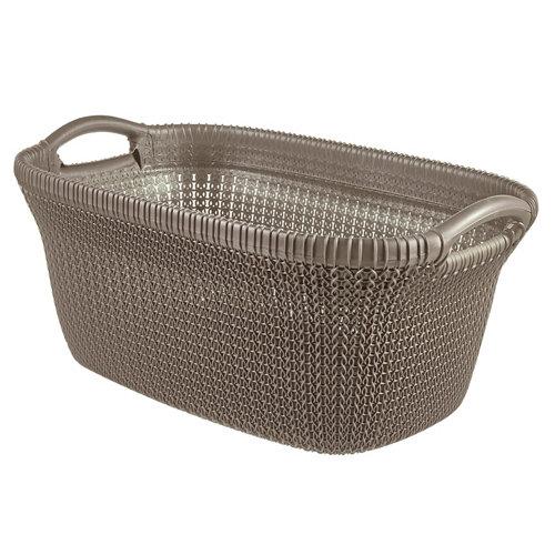 Cesto de ropa knit marrón 40l