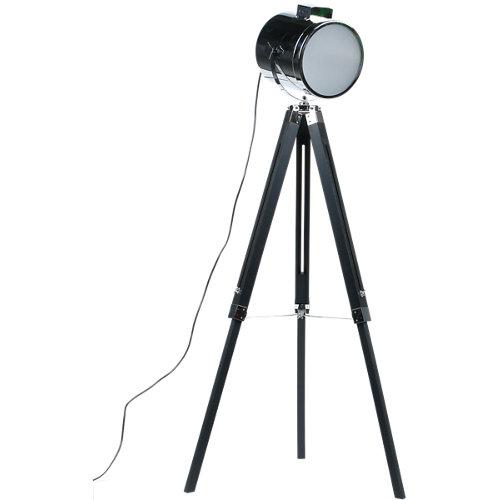Lámpara de pie upstreet negra