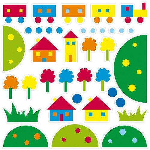 Stickers infantil foam casas 48x68 cm