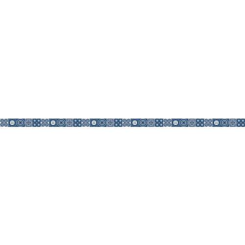 Cenefa adhesiva de vinilo azulejos azul 3 m
