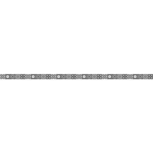 Cenefa adhesiva de vinilo azulejos blanco y negro 3 m