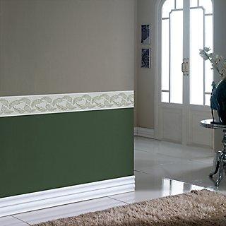 Cenefa Adhesiva De Papel Hojas Verde 5 M Leroy Merlin