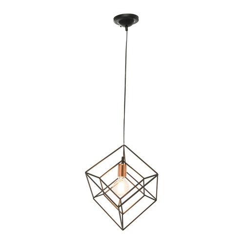 Lámpara de techo kubic negra 1 luz