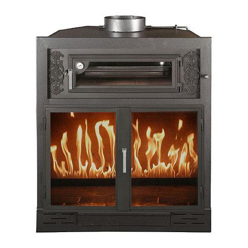 Hogar de leña con horno joyma london 70 15 kw