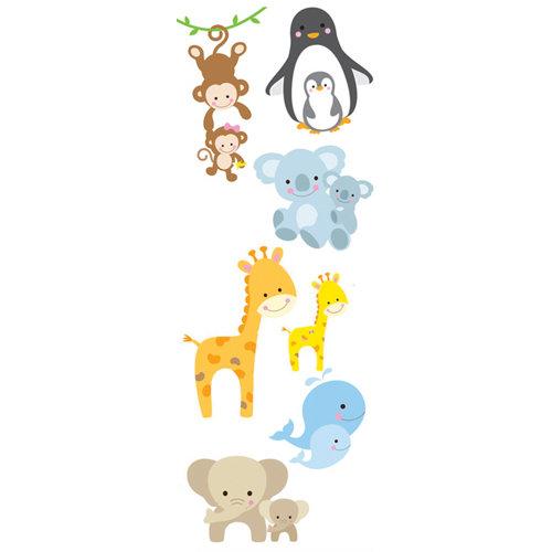 Stickers infantil animales bebes 24x68 cm