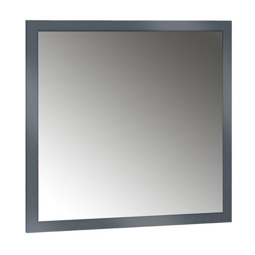 Espejo de baño asimétrico gris / plata 70 x 70 cm