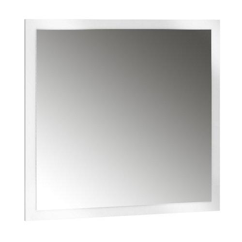 Espejo de baño asimétrico blanco 70 x 70 cm