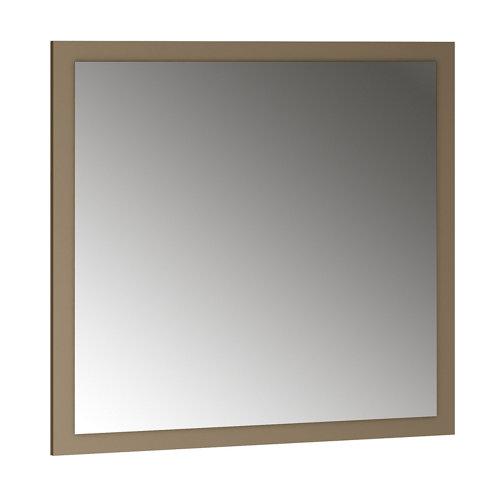 Espejo de baño asimétrico marrón 70 x 70 cm