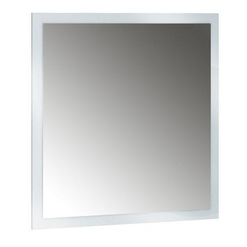 Espejo de baño asimétrico gris / plata 90 x 70 cm