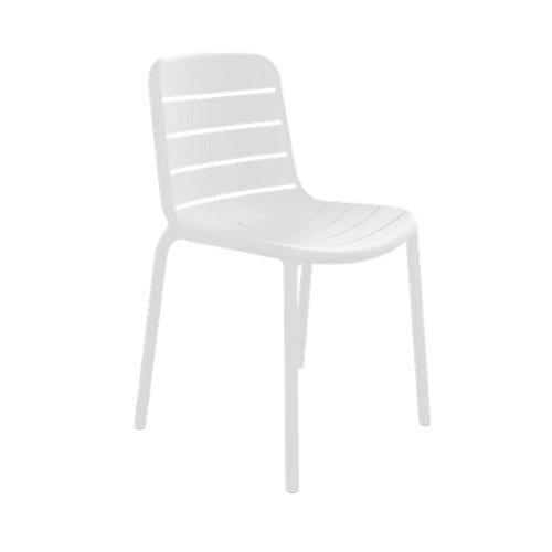 Silla de exterior gina blanco 80,5x52,3x52 cm