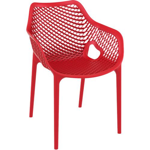 Silla de exterior de resina grid xl rojo 81x57x60 cm