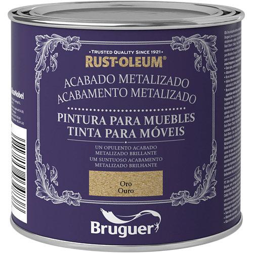 Pintura para muebles efecto metalizado rust-oleum 125 ml oro