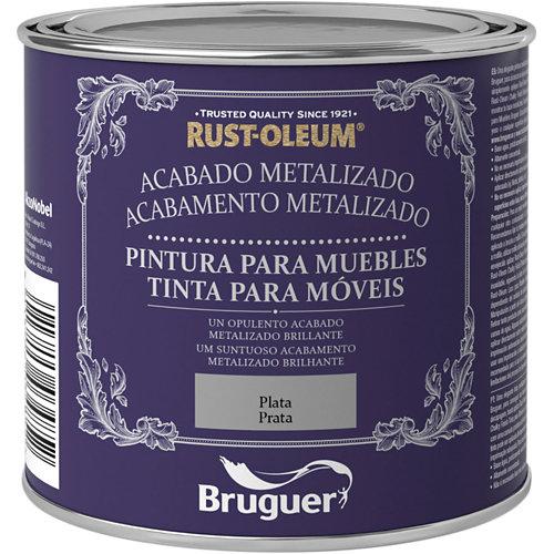 Pintura para muebles efecto metalizado rust-oleum 125 ml plata