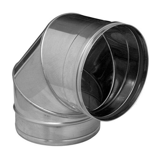 Curva de acero inoxidable de 150 de diámetro
