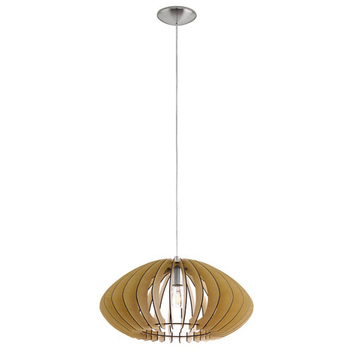 Lámpara de techo cossano marrón 1 luz