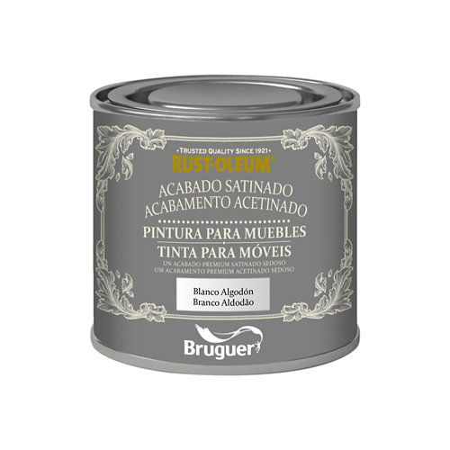Pintura para muebles efecto satinado rust-oleum 125 ml blanco algodón