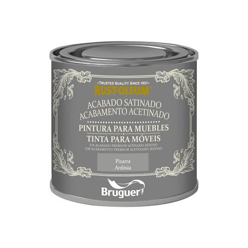 Pintura para muebles efecto satinado rust-oleum 125 ml pizarra