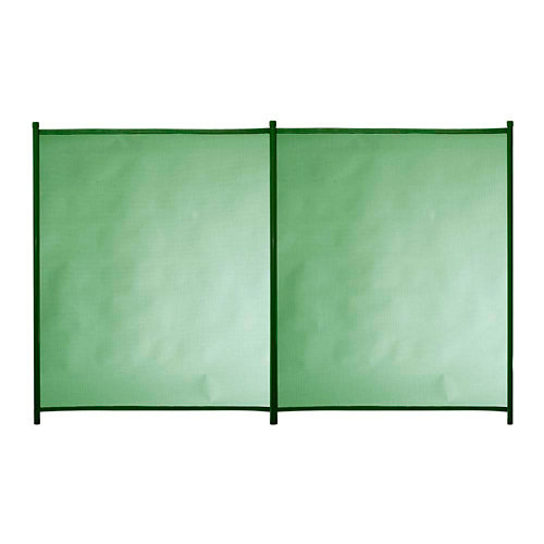 Valla de seguridad desmontable de poliéster / pvc verde 125x200 cm