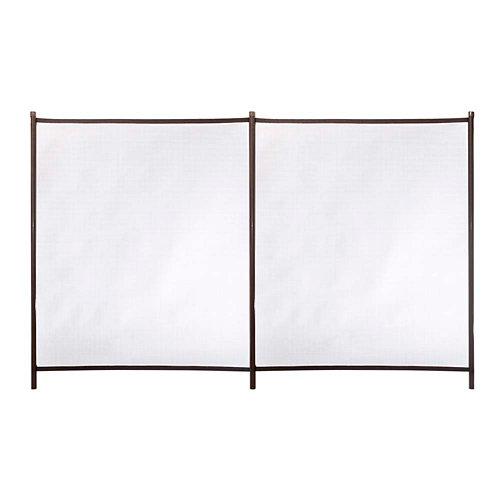 Valla de seguridad desmontable de poliéster / pvc marrón 125x200 cm