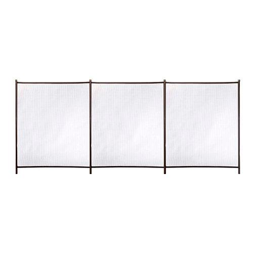 Valla de seguridad desmontable de poliéster / pvc marrón 125x300 cm