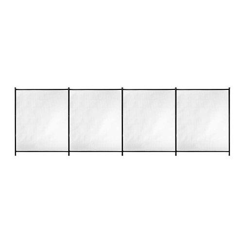 Valla de seguridad desmontable de poliéster / pvc negro 125x400 cm