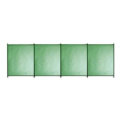 Valla de seguridad desmontable de poliéster / pvc verde 125x400 cm