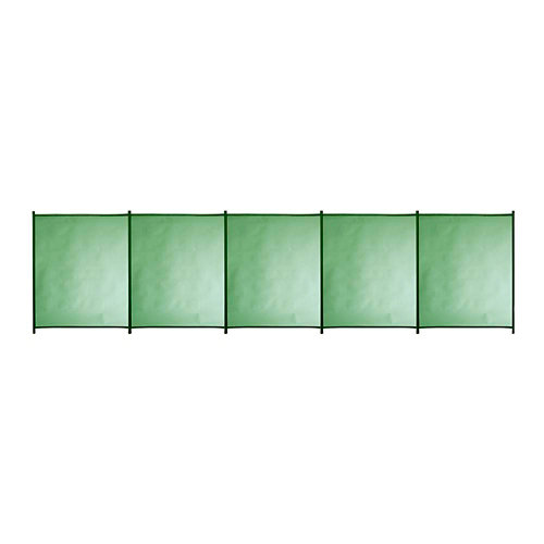 Valla de seguridad desmontable de poliéster / pvc verde 125x500 cm