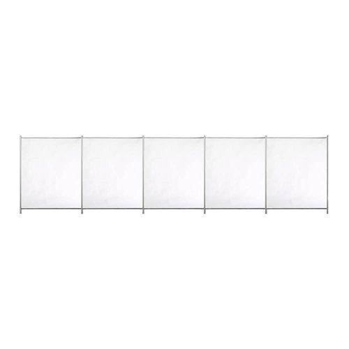 Valla de seguridad desmontable de poliéster / pvc blanco 125x500 cm