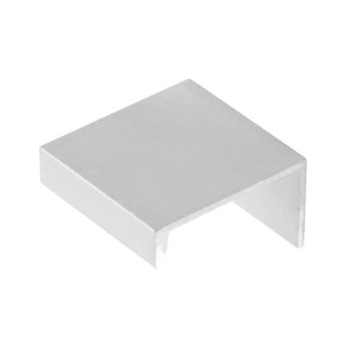 Tirador de mueble de aluminio satinado 32x12 mm