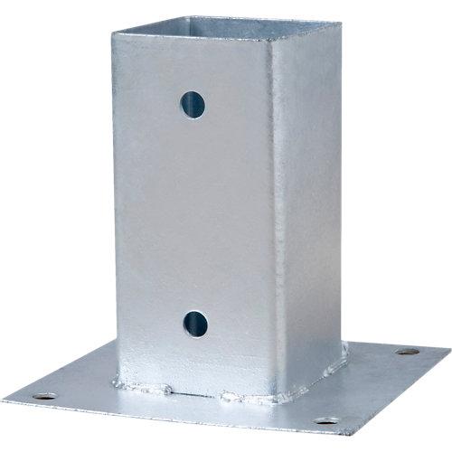 Soporte poste para suelo hormigón de acero galvanizado para poste de 12 x 12 cm
