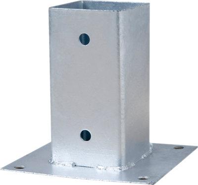 Soporte Poste Para Suelo Hormigón De Acero Galvanizado Para Poste De 12 X 12 Cm Leroy Merlin