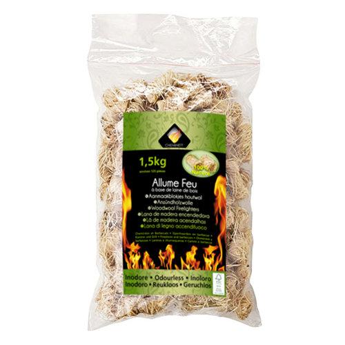 Enciende fuego pyrofeu saco de lamas de madera