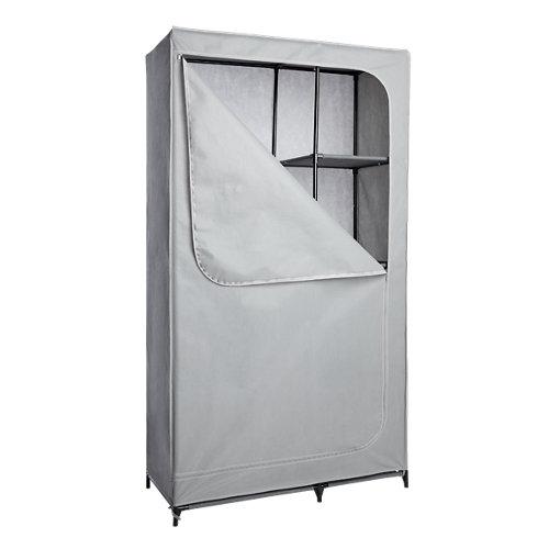 Armario tela con cremallera spaceo gris 180x100x45cm