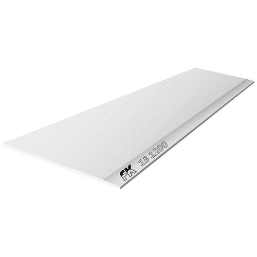 Placa cartón/yeso laminado blanco 120x270x1,3 cm