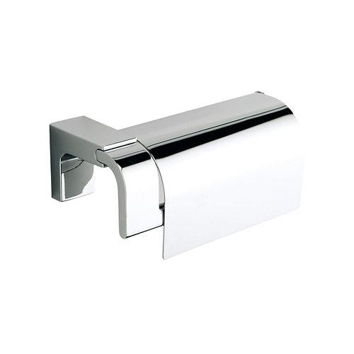 Portarrollos de baño con tapa elegance creabath cromo brillo