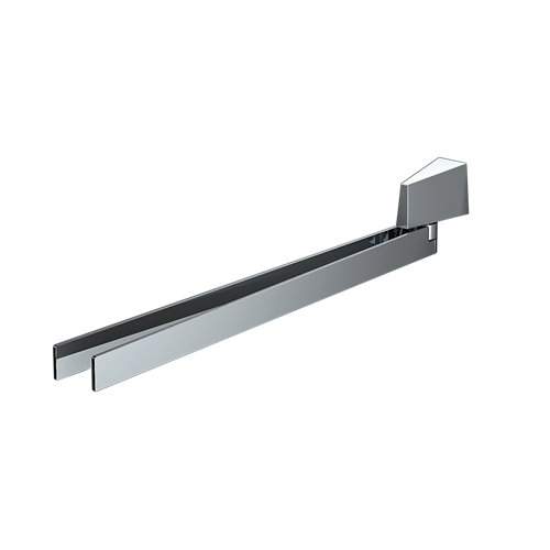 Toallero karisma gris / plata brillante 43.6x6.8 cm