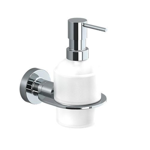 Dispensador de jabón architecture de latón cromado gris / plata