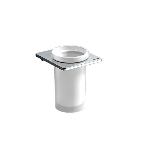 Vaso de baño karisma gris / plata brillante