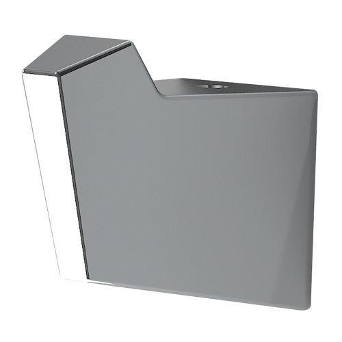 Percha de baño karisma gris / plata brillante