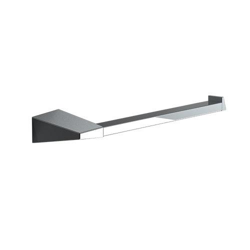 Toallero karisma gris / plata cromado brillante 26x3.5 cm