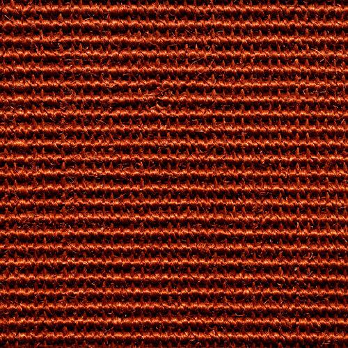 Suelo moqueta rollo de sisal naranja / cobre 4 m de ancho. pedido mínimo 4m².
