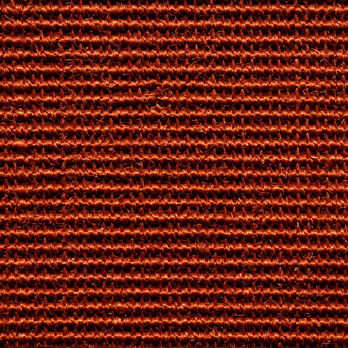 Suelo moqueta rollo de sisal naranja / cobre 2 m de ancho. pedido mínimo 4m².